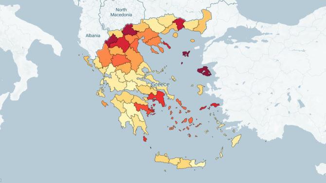 COVID19 Greece map