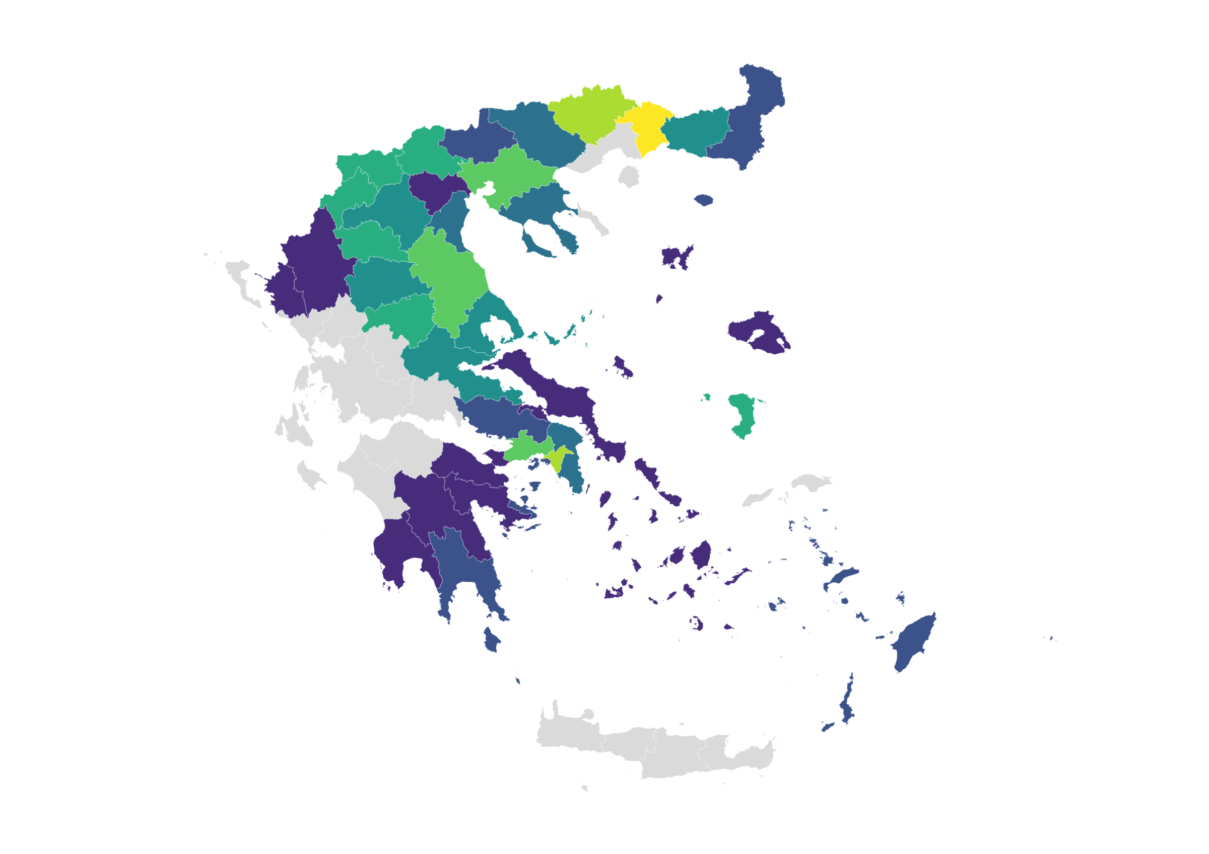 map with rapid tests greece