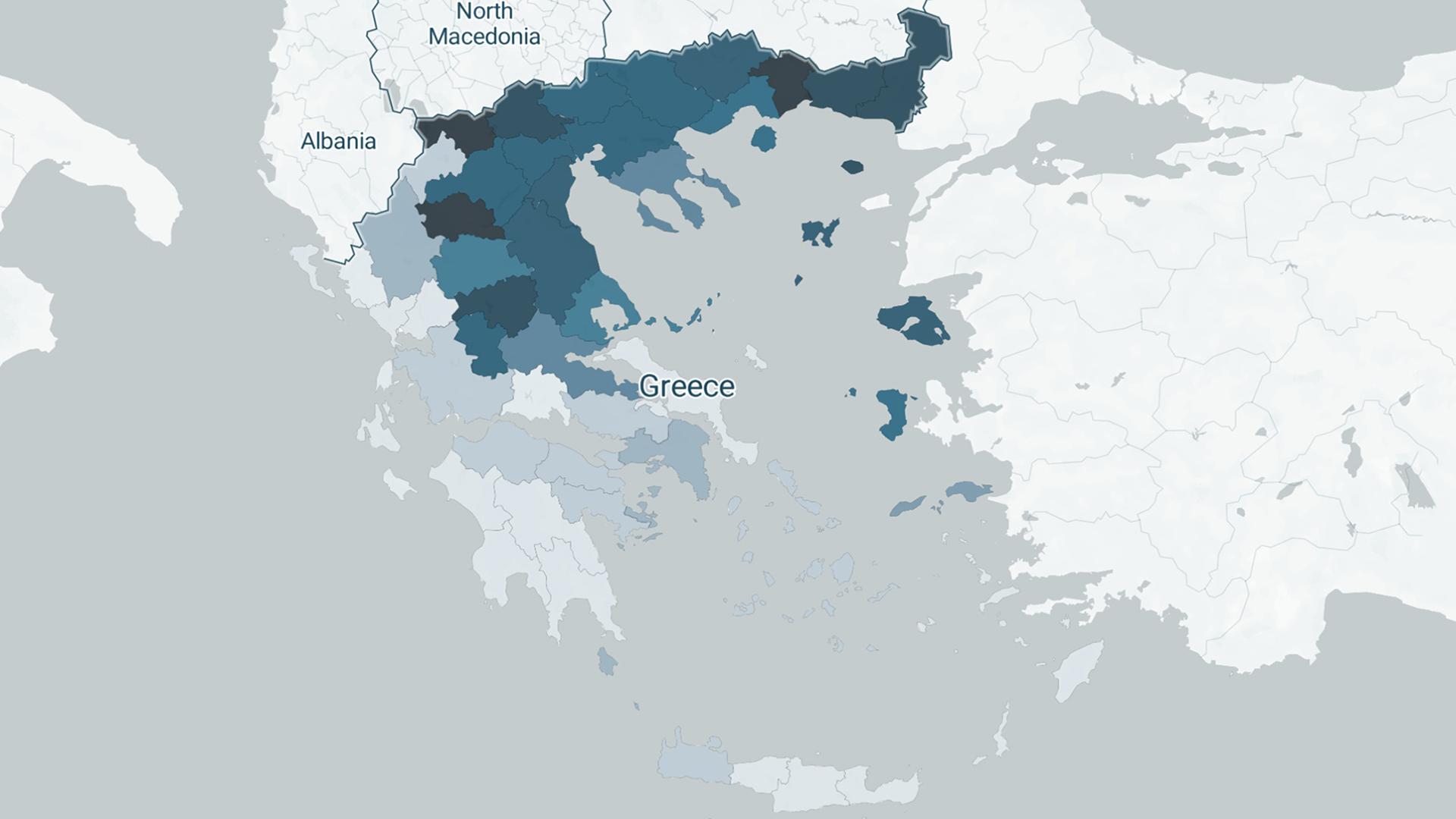 Χάρτης κρουσμάτων της Ελλάδας, λεπτομέρεια