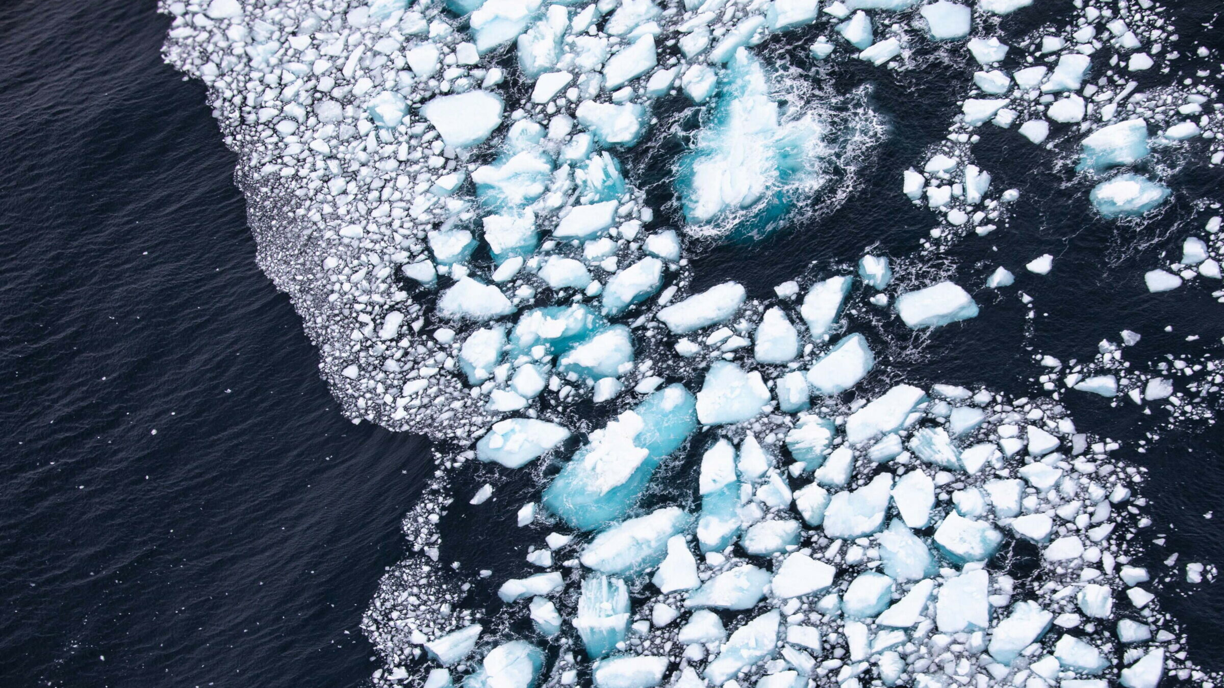 image of melting ice in the antarctica