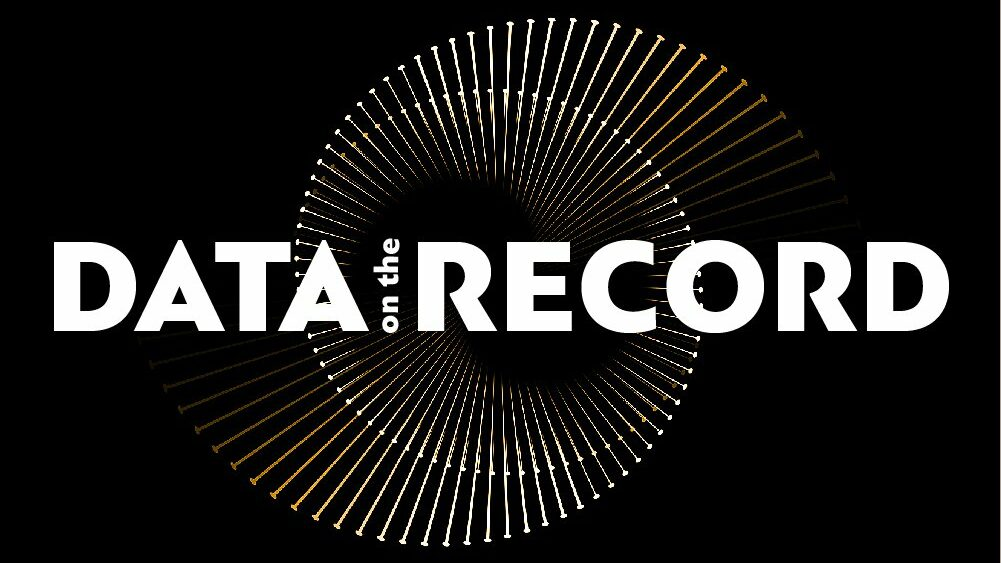 data on the record logo